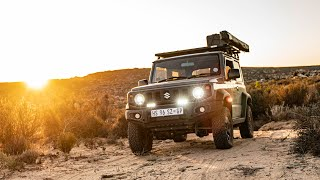 My Lightweight Jimny setup 4x4ing Through a Mountain Desert of Kagga Kamma! (2020) [ROAM]