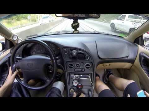 1997 Eagle Talon TSI AWD 16G Turbo 23 PSI Driving on the highway