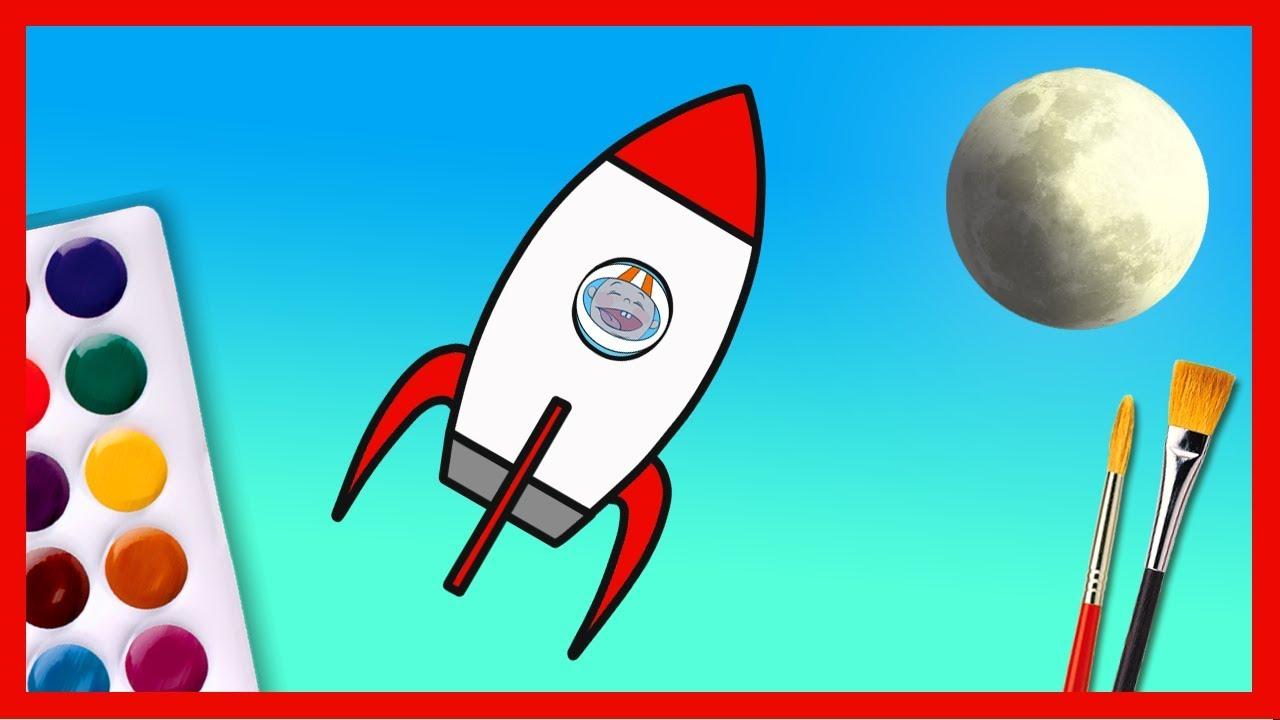 Desene De Colorat Racheta Filmulet Pentru Copii Mici
