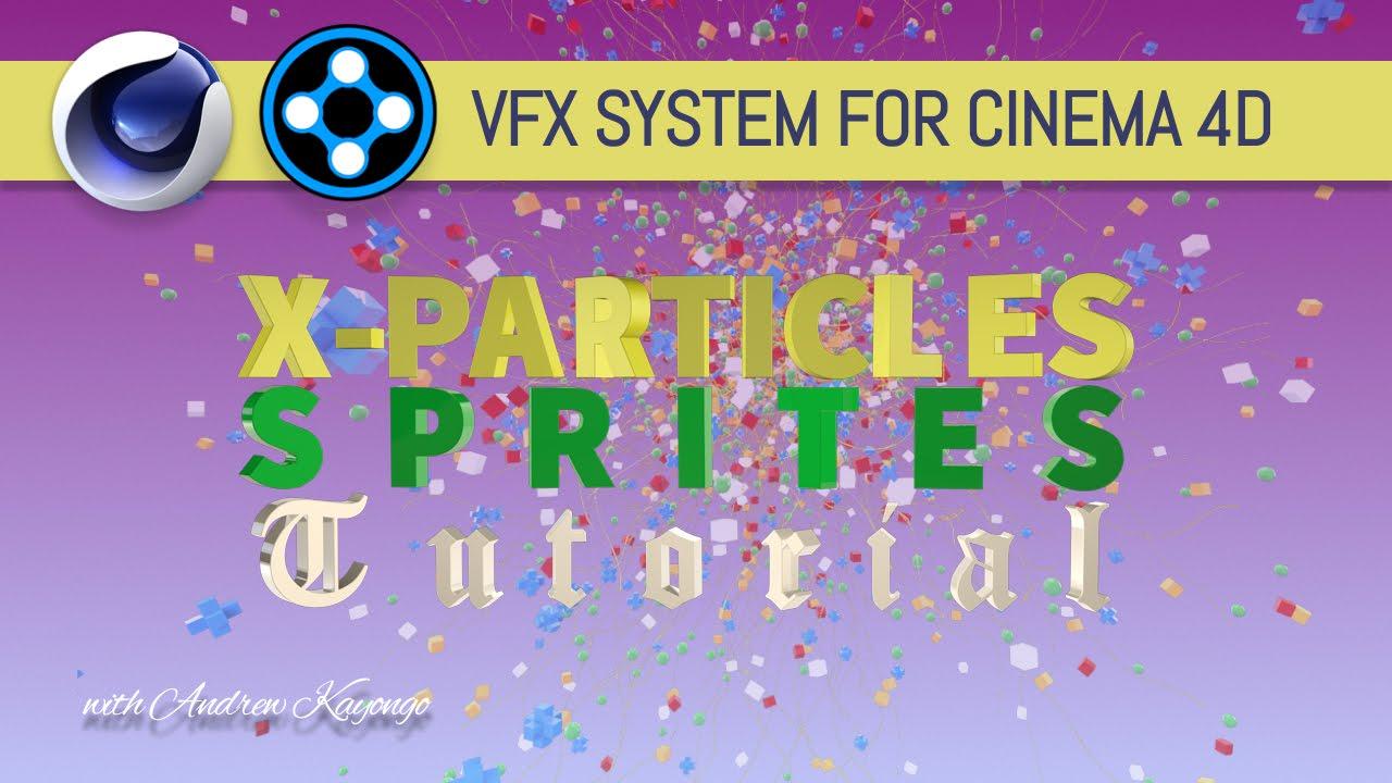 Cinema 4D: X-Particles Sprites tutorial