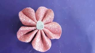 How to Make Paper Flower Easy out of Glitter Foam Sheet