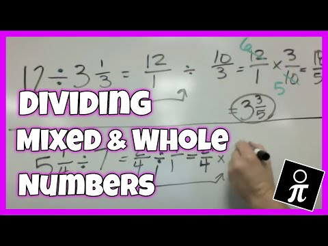 Dividing mixed numbers and whole numbers youtube ccuart Gallery
