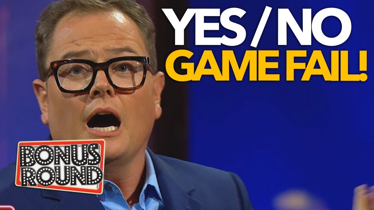 DON'T SAY YES & DON'T SAY NO! FUNNY FAILS - YES & NO GAME On Alan Carr's Epic Gameshow 2020