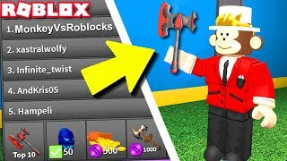 GETTING THE CHAMPION AXE!! *REALLY HARD* (Roblox Assassin)