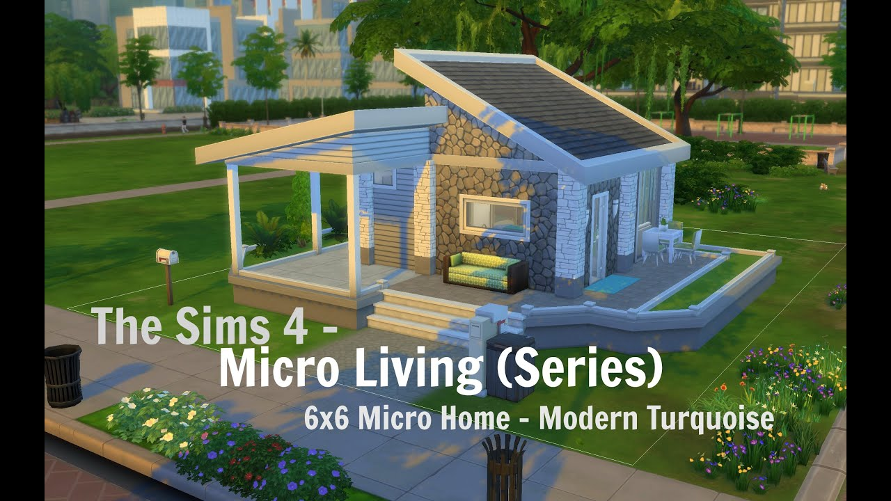The sims 4 house building micro challenge 6x6 modern for Modern house 6x6