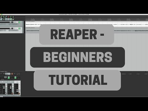 Reaper Beginners Tutorial - Recording Guitar and Vocals