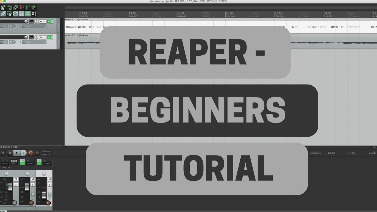 reaper beginners tutorial recording guitar and vocals youtube rh youtube com Beginners Guide to Blockchain tera reaper beginner guide