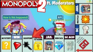 Playing Giant Monopoly Game 2 with MODERATORS in Growtopia  ft. @Pangloss OMG!! |  GrowTopia