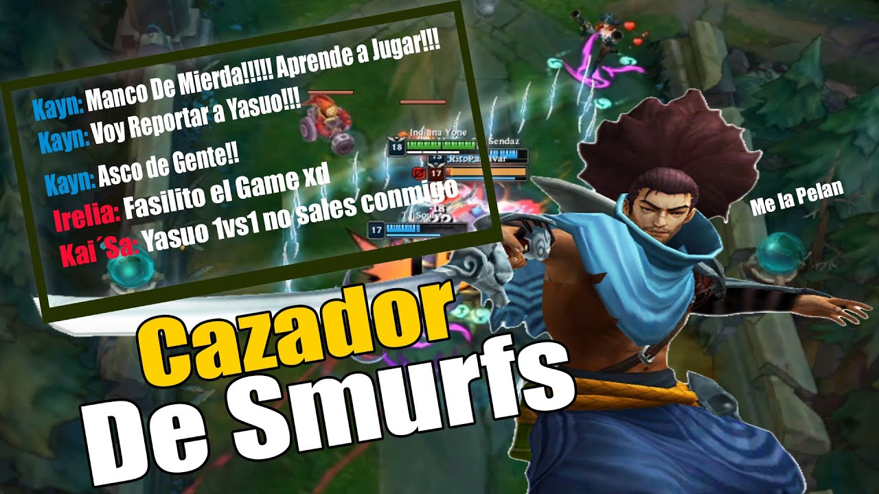 EL KAYN FLAMER XD | CAZADOR DE SMURF | Ep.1 | LoL Gameplay Humor Español