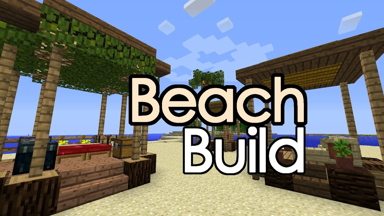 Minecraft beach hut shack rv build youtube for How to build a beach bar