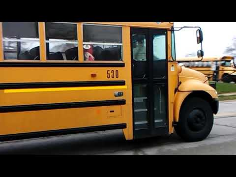 Ferguson Florissant School District bus 530 heading to Johnson Wabash Elementary School