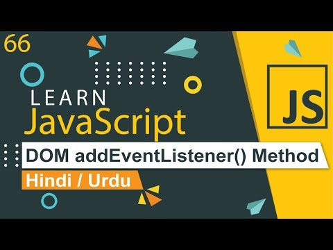 JavaScript addEventListener Method Tutorial in Hindi / Urdu thumbnail