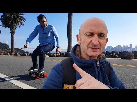 Skate Electrique : Tournage à Treasure Island (San Francisco)