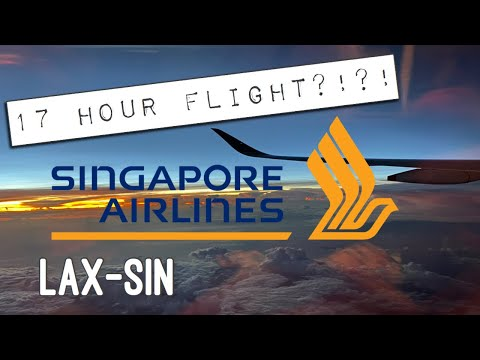 How We Survived A 17 Hour Flight   SINGAPORE Airlines   PREMIUM ECONOMY   LAX-SIN