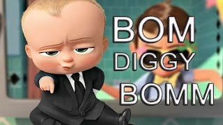 Bom Diggy Diggy    Funny Boss Baby Animated Version Boss Baby Dance Sktks