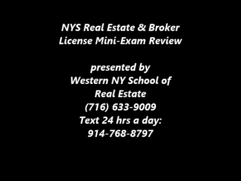 NYS Real Estate Sales & Broker Exam Review