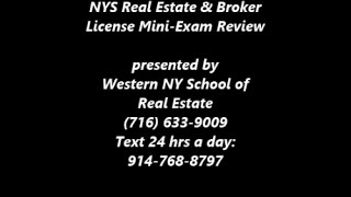 Nys Real Estate Sales Broker Exam Review