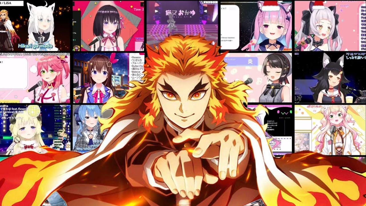 Hololive Sings Homura (炎) by LiSA - Demon Slayer: Kimetsu no Yaiba the Movie - Mugen Train Ending