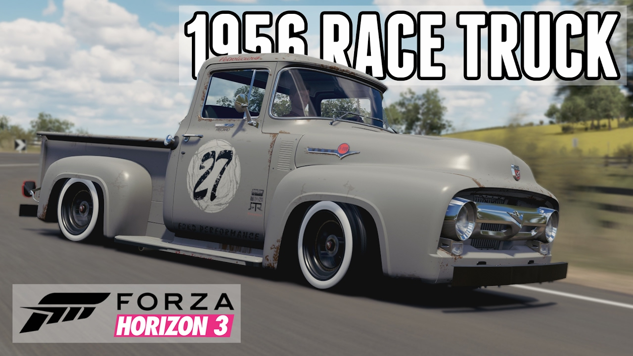 Online forzathon events in a 1956 ford f 100 race truck forza horizon 3