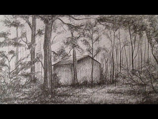Como Dibujar Un Sencillo Paisaje A Lapiz Dibujo De Una Casa En El