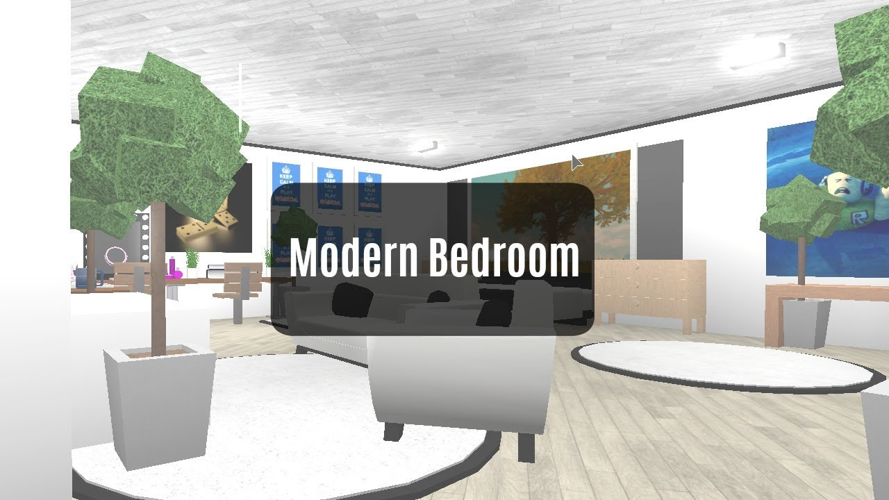 Roblox bloxburg room designs modern bedroom new series for Kitchen designs bloxburg