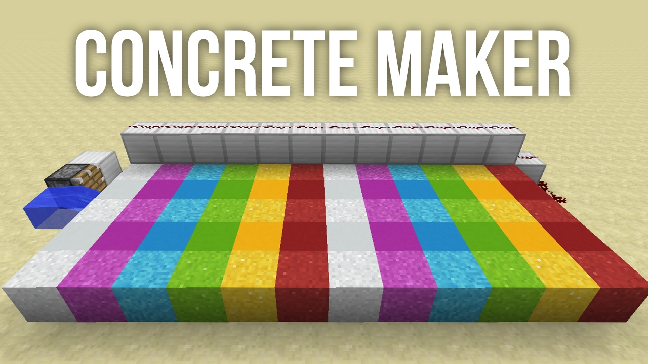 Minecraft How To Craft Concrete