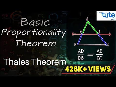 Basic Proportionality Theorem | Thales Theorem | Geometry | Math | LetsTute