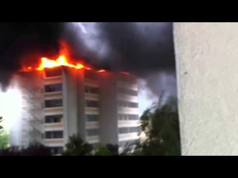 Incendie à Martigny (Suisse) commenté avec un accent trop drôle