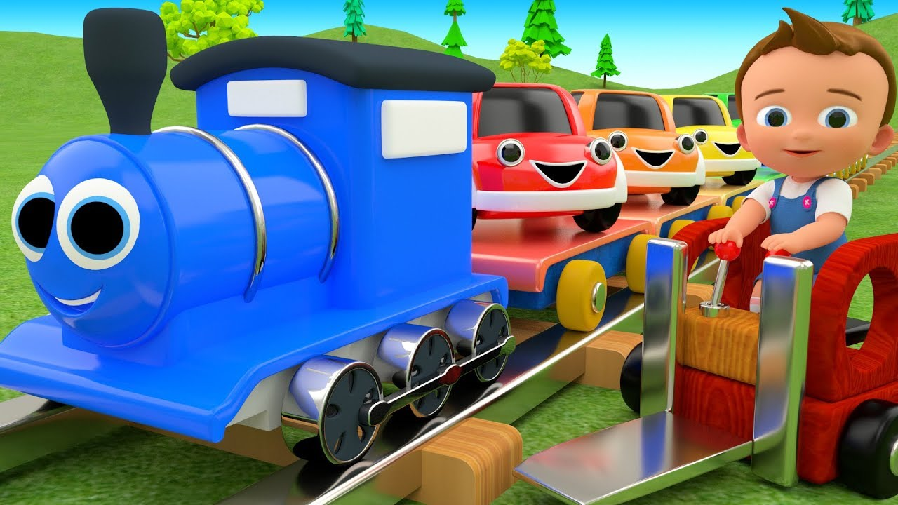 Colors For Children To Learn With Toy Cars Train Transport