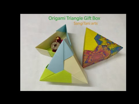christmas2019 #Origami  gift box (Tomoko Fuse) | #giftbox  | Paper box | giftideas