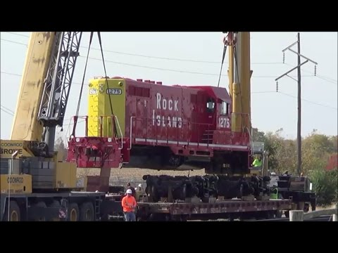 66-Ton+ Locomotive is Lifted Up in the Air