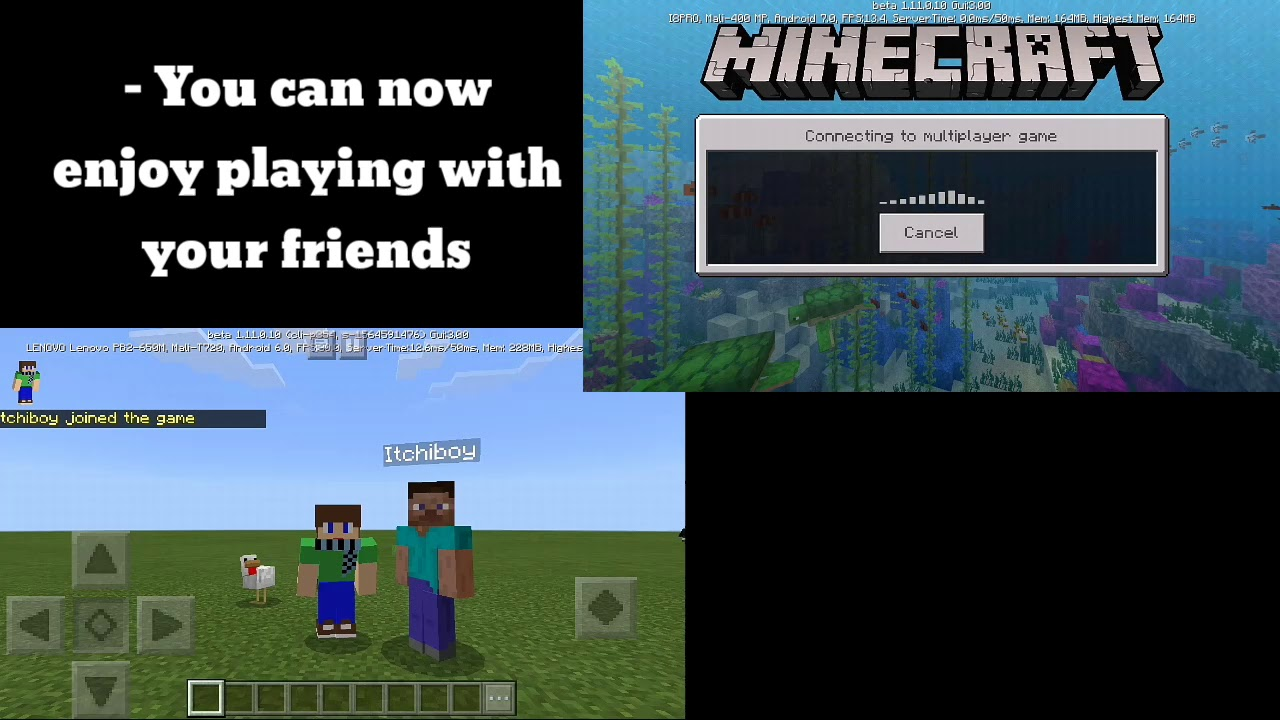 How to play multiplayer in Minecraft PE | Offline | 1 11 0 x + | Fix | 100%  Working | Multiplayer