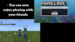 How To Play Multiplayer In Minecraft Pe | Offline | 1.11.0.x + | Fix | 100% Work
