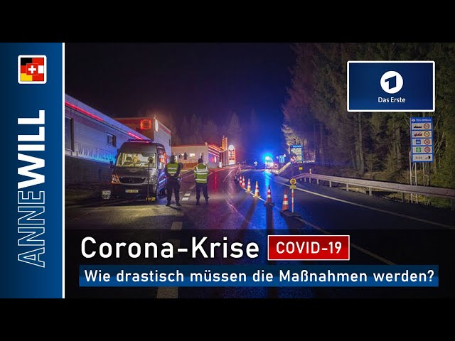 Anne Will - 15.03.2020 - Die Corona-Krise: Wie drastisch müssen die Maßnahmen werden? (ARD)