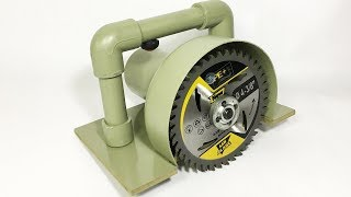 How to Make a Circular Saw Wood Cutter using 775 Motor and PVC
