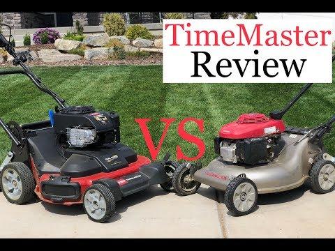 "Toro TimeMaster Review TimeMaster vs Honda- 30"" vs 21"" 2018"