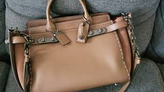 Review - Coach Double Swagger Bag in Tobacco/Black Copper