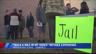 """Students """"Walk a Mile"""" in some…"""