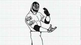 Rey Misterio - How to draw Rey Misterio - Video - The Giant Killer
