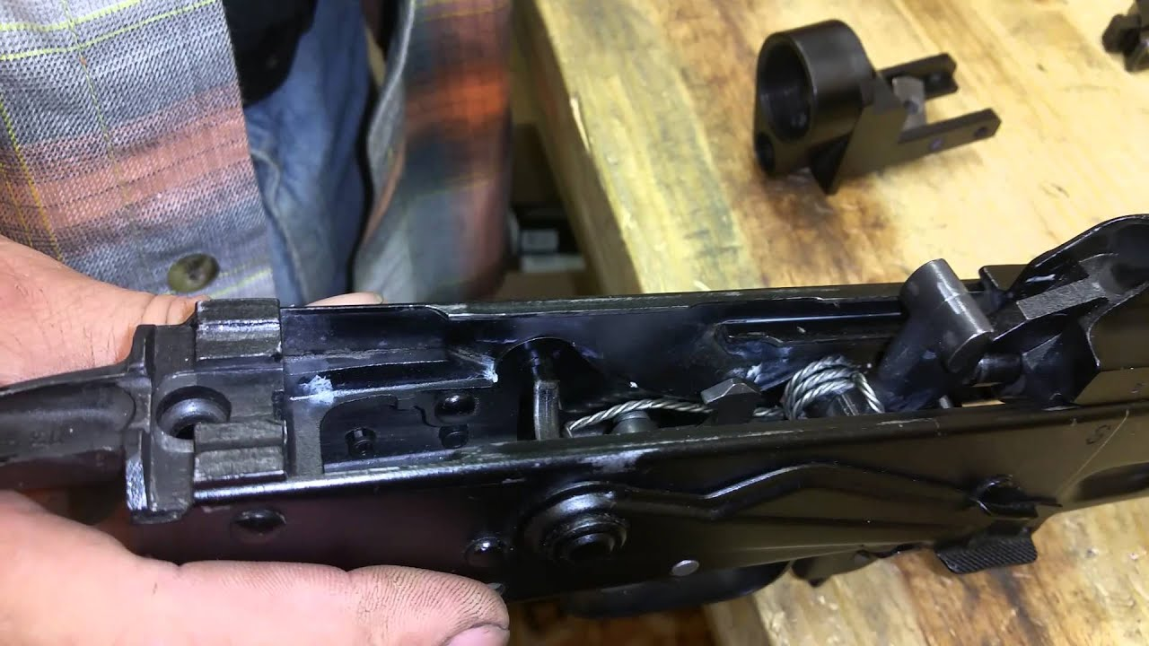Canis AK to M4 Stock Adapter Installation on Stamped AK by texas gun smith