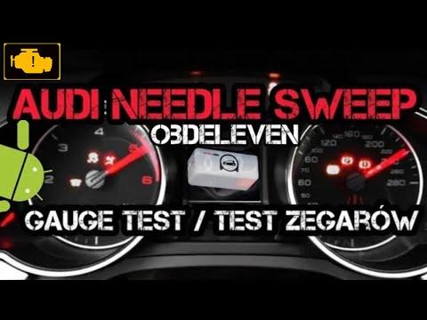 Obdeleven Audi Needle Sweep Gauge Test Activation Test Zegarów