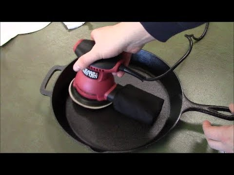 How to fix rough cast iron pan skillet make it super smooth