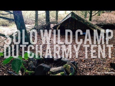 Solo Wild Camp, Dutch Army Tent