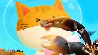 Как поймать этого Огромного Краба? Симулятор котенка рыболова #6 веселый летсплей #ФГТВ