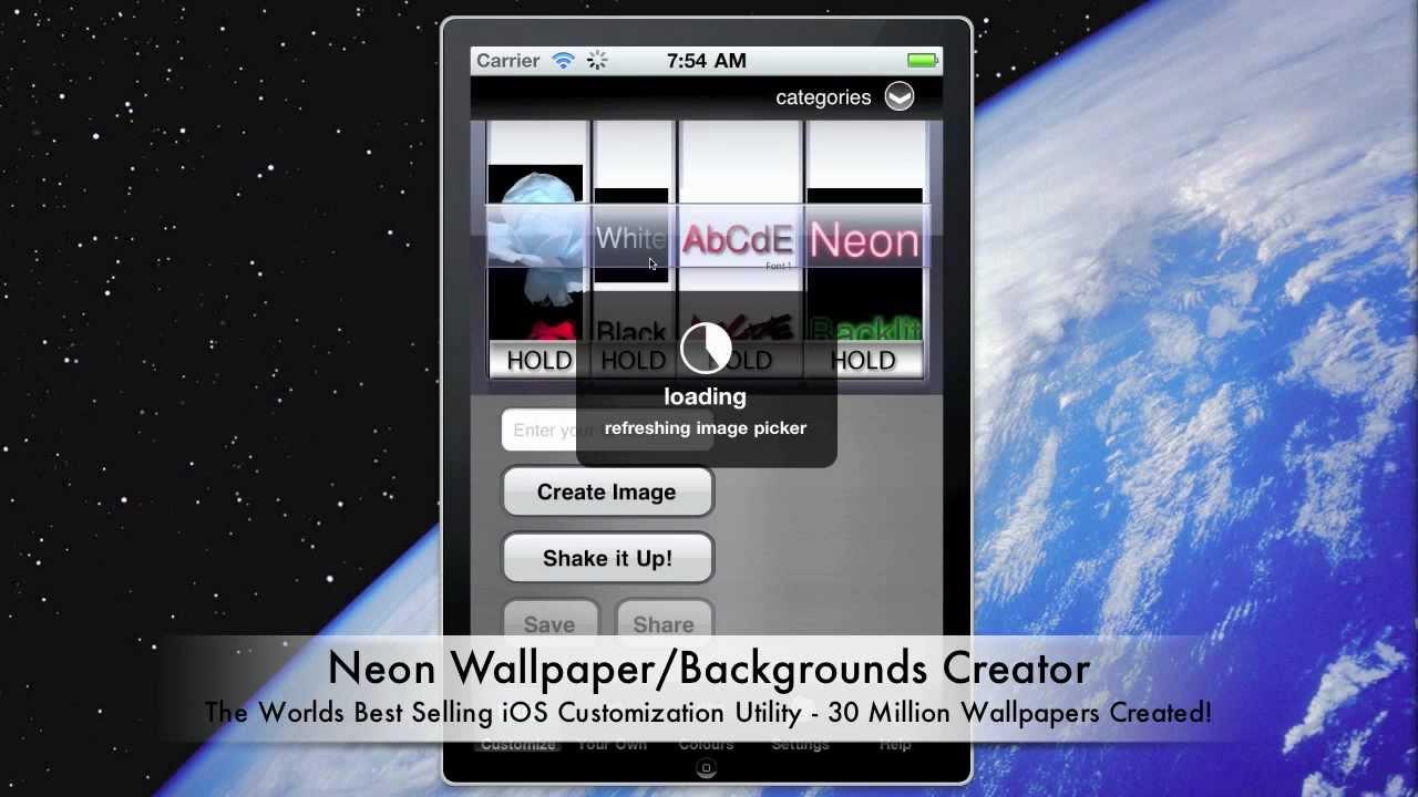 Neon Wallpaper Maker App - Demo