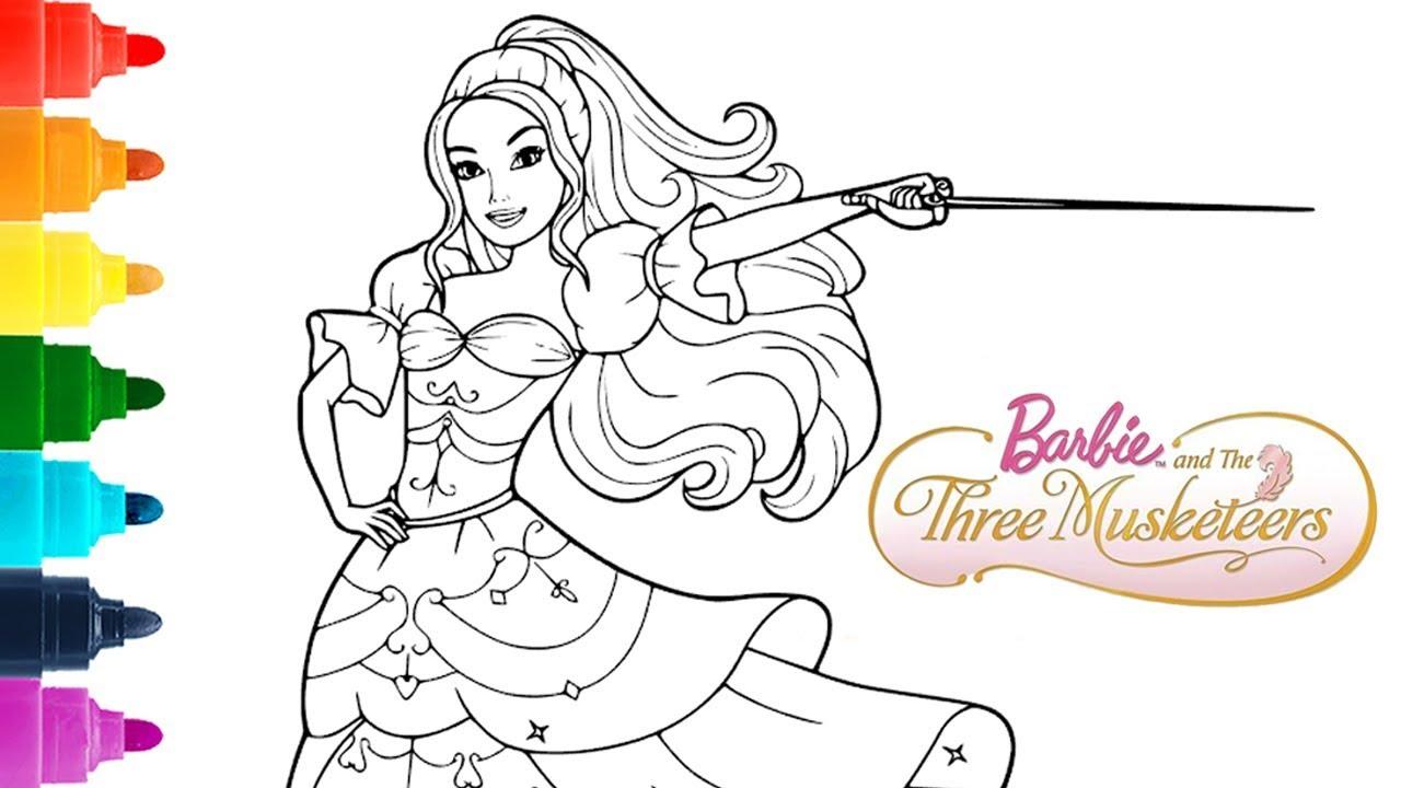 Disney barbie coloringpage