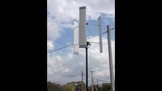 Вертикальный ветрогенератор(Вертикалка, уменьшил диаметр с 2м до 1,6м удлинение лопасти стало 1,25 угол атаки +5 градусов Профиль NACA6409 хорда..., 2016-08-30T16:35:37.000Z)