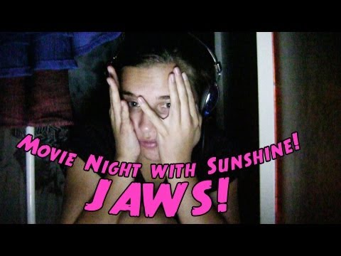 JAWS - Teen Reacts - Saturday Night Movie With Sunshine!