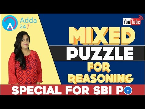 SBI PO 2017 - MIXED PUZZLE FOR REASONING