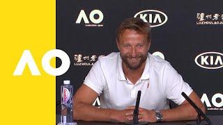 Jiří Vaněk, coach of Petra Kvitova, pre finals press conference | Australian Open 2019
